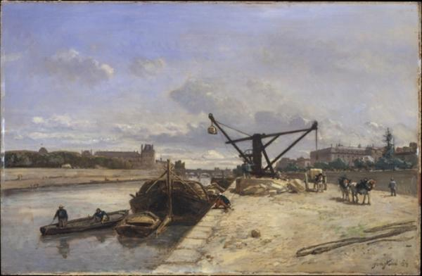 View from the Quai d'Orsay by Johan Barthold Jongkind (1819-1891, Netherlands)
