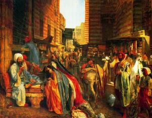 John Frederick Lewis - The Street and Mosque El-..