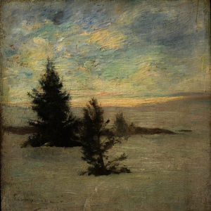 John La Farge - Snow Weather