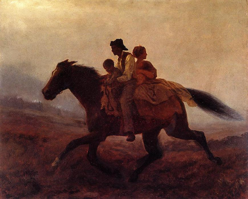 A Ride for Freedom - The Fugitive Slaves by Jonathan Eastman Johnson (1824-1906, United Kingdom) | Museum Art Reproductions | ArtsDot.com