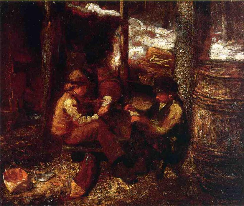 At the Maple Sugar Camp by Jonathan Eastman Johnson (1824-1906, United Kingdom)