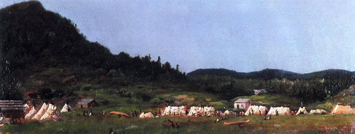 Camp Scene at Grand Portage by Jonathan Eastman Johnson (1824-1906, United Kingdom)
