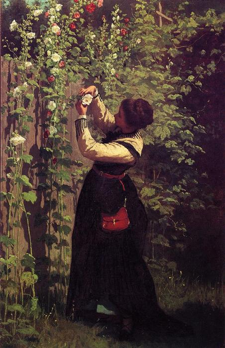 Catching the Bee by Jonathan Eastman Johnson (1824-1906, United Kingdom)