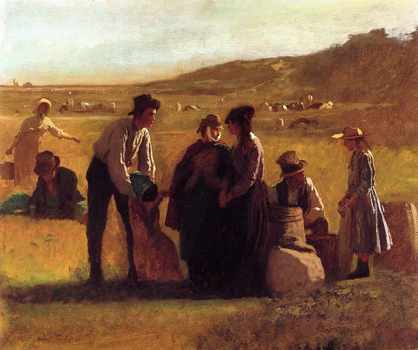 Cranberry Pickers by Jonathan Eastman Johnson (1824-1906, United Kingdom)