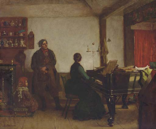 Play Me a Tune by Jonathan Eastman Johnson (1824-1906, United Kingdom) | Museum Quality Reproductions | ArtsDot.com