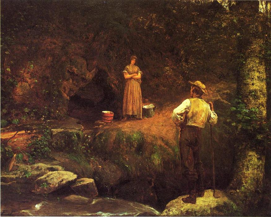 The Early Lovers by Jonathan Eastman Johnson (1824-1906, United Kingdom)