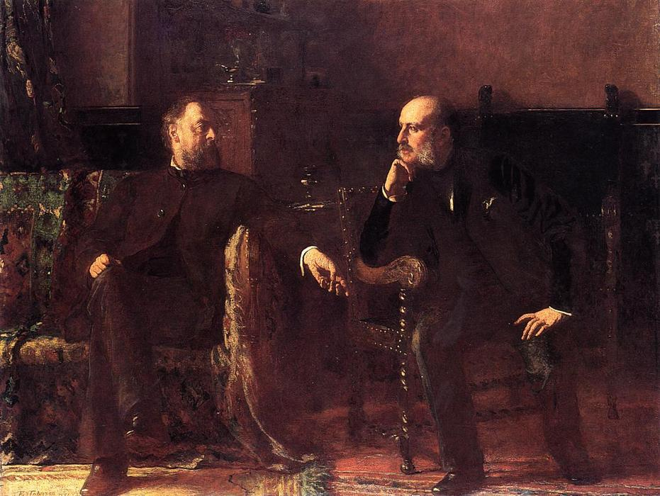 The Funding Bill - Portrait of Two Men by Jonathan Eastman Johnson (1824-1906, United Kingdom) | ArtsDot.com