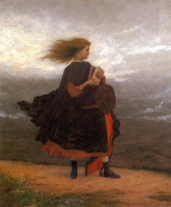 The Girl I Left Behind Me by Jonathan Eastman Johnson (1824-1906, United Kingdom) | Oil Painting | ArtsDot.com