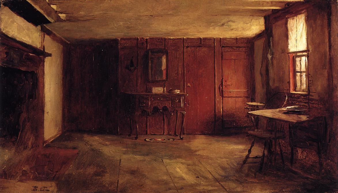 The Other Side of Susan Ray's Kitchen - Nantucket by Jonathan Eastman Johnson (1824-1906, United Kingdom)