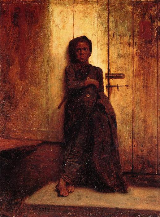 The Young Sweep by Jonathan Eastman Johnson (1824-1906, United Kingdom)
