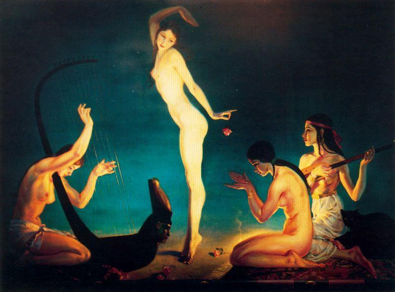 A dancer from ancient Egypt by Jorge Apperley (George Owen Wynne Apperley) (1884-1960, United Kingdom)