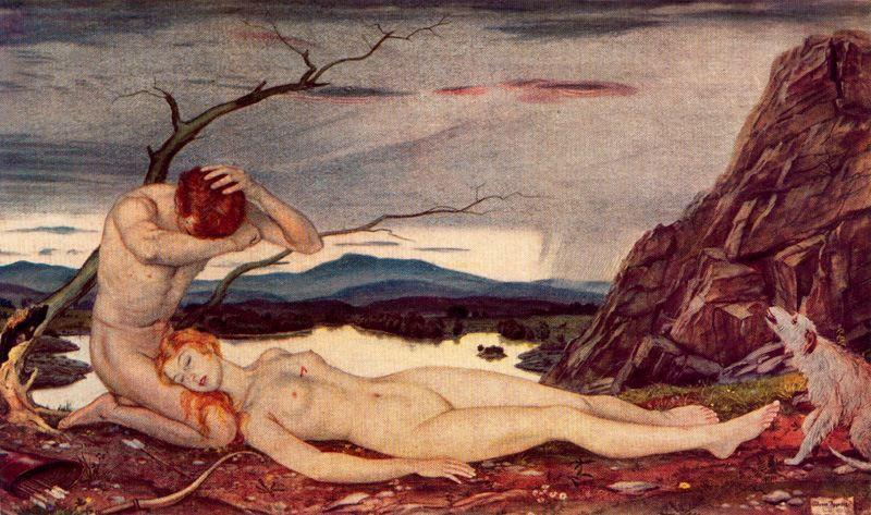 Death of Pocris by Jorge Apperley (George Owen Wynne Apperley) (1884-1960, United Kingdom)