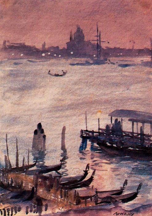 Embarcadero, Venecia by Jorge Apperley (George Owen Wynne Apperley) (1884-1960, United Kingdom)