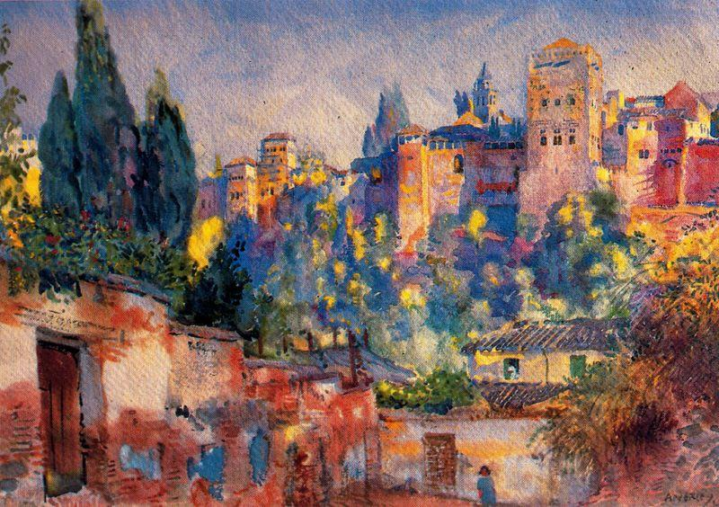 La Alhambra by Jorge Apperley (George Owen Wynne Apperley) (1884-1960, United Kingdom)