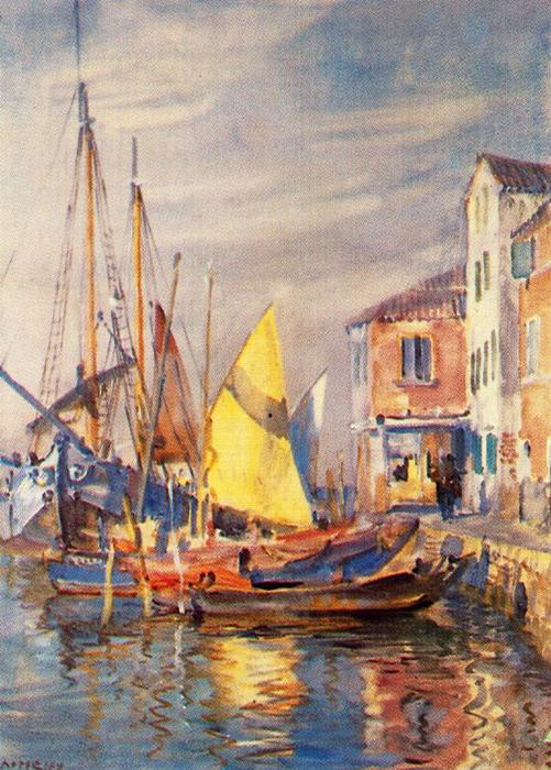 S. Pietro de Pellestrina (Venecia) by Jorge Apperley (George Owen Wynne Apperley) (1884-1960, United Kingdom)