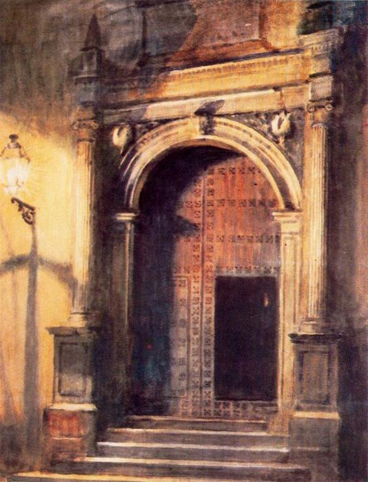 The door to San Gregorio, Granada by Jorge Apperley (George Owen Wynne Apperley) (1884-1960, United Kingdom)