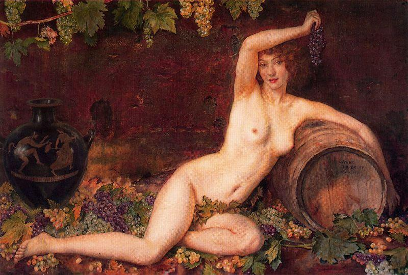 The spirit of the vineyard by Jorge Apperley (George Owen Wynne Apperley) (1884-1960, United Kingdom)