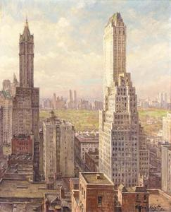 Louis Aston Knight - Skyscrapers, New York