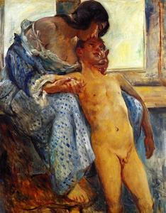 Lovis Corinth (Franz Heinrich Louis) - A Mother-s Love