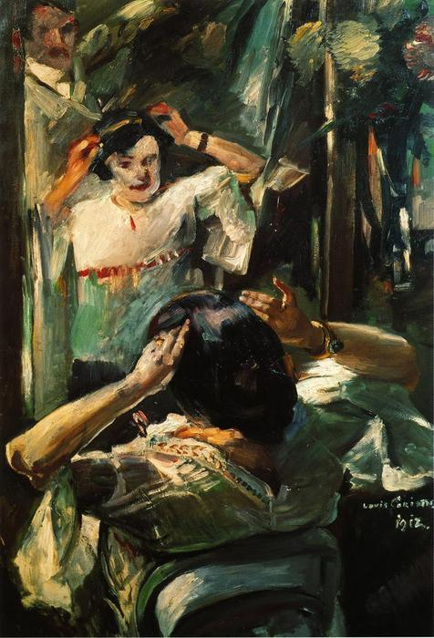 At the Mirror by Lovis Corinth (Franz Heinrich Louis) (1858-1925, Netherlands)
