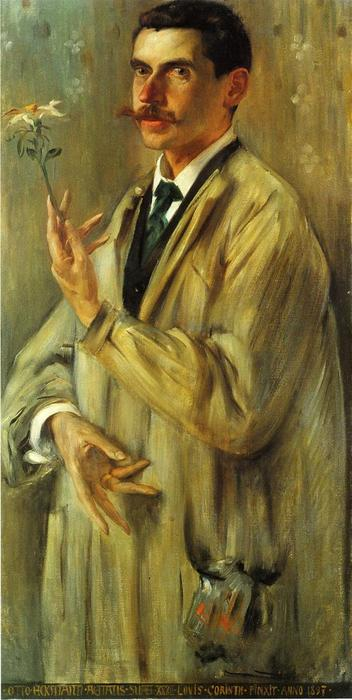 Portrait of the Painter Otto Eckmann, Oil On Canvas by Lovis Corinth (Franz Heinrich Louis) (1858-1925, Netherlands)
