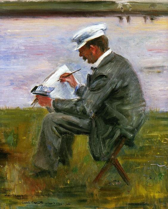 Portrait of the Painter Walter Leistikow 1 by Lovis Corinth (Franz Heinrich Louis) (1858-1925, Netherlands)