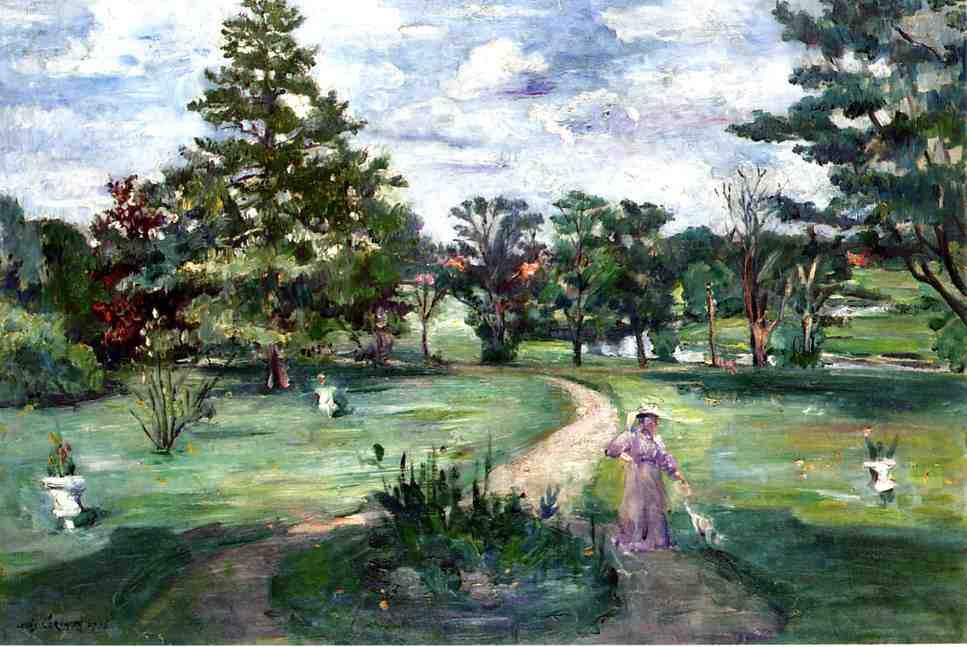 Schlosspark, Oil On Canvas by Lovis Corinth (Franz Heinrich Louis) (1858-1925, Netherlands)