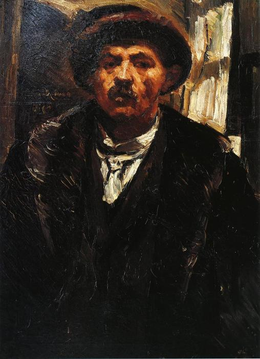 Self Portrait in a Fur Coat and a Fur Cap, Oil On Canvas by Lovis Corinth (Franz Heinrich Louis) (1858-1925, Netherlands)
