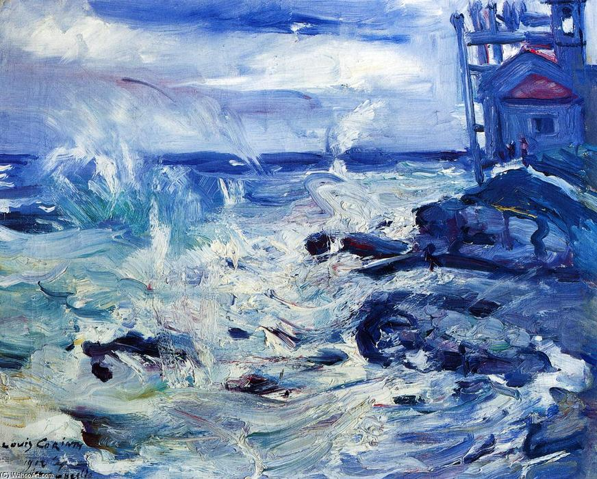 Storm at Capo d'Ampeglio, Oil On Canvas by Lovis Corinth (Franz Heinrich Louis) (1858-1925, Netherlands)