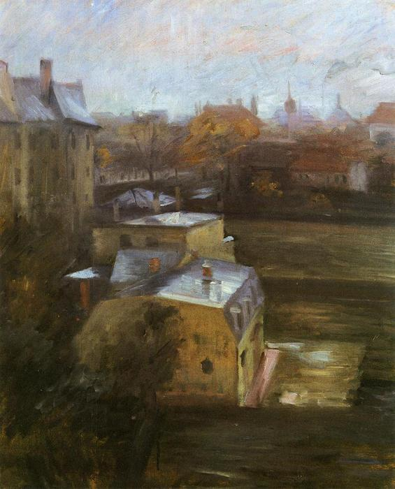 View from the Studio, Schwabing, Oil On Panel by Lovis Corinth (Franz Heinrich Louis) (1858-1925, Netherlands)