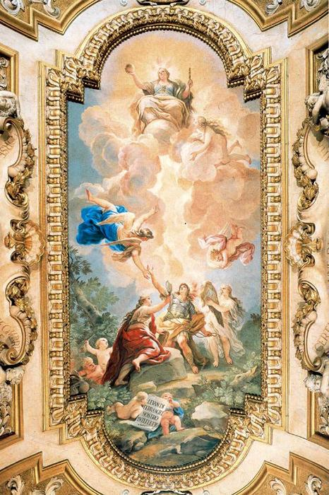 Allegory of Divine Wisdom by Luca Giordano (1634-1705, Italy)