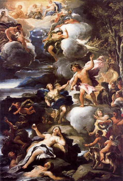Ariadne abandoned on the island by Luca Giordano (1634-1705, Italy)