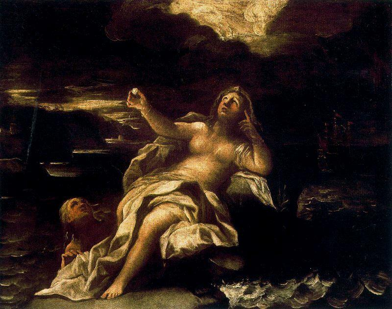 Bacchus meets Arianna by Luca Giordano (1634-1705, Italy)
