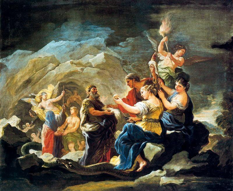 cave of Eternity by Luca Giordano (1634-1705, Italy)