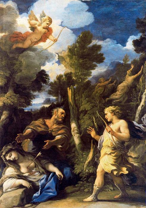 Cephalus and Procris by Luca Giordano (1634-1705, Italy)