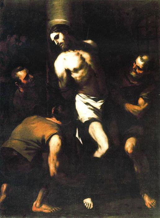 Christ at the Column by Luca Giordano (1634-1705, Italy)