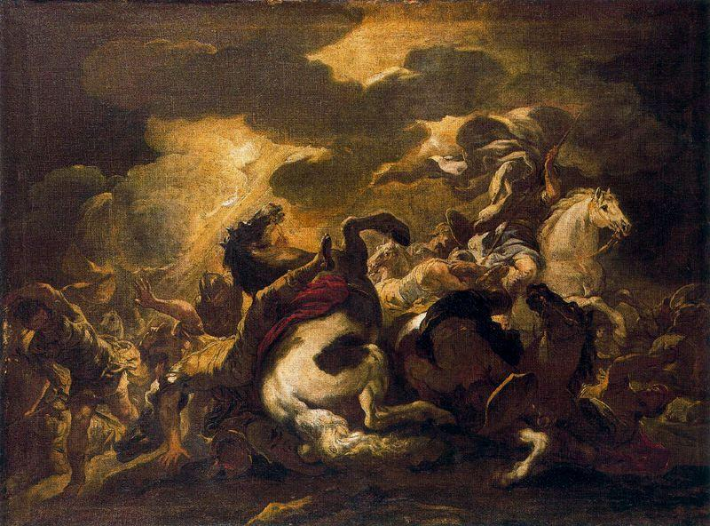 Conversion of Saul 1 by Luca Giordano (1634-1705, Italy)