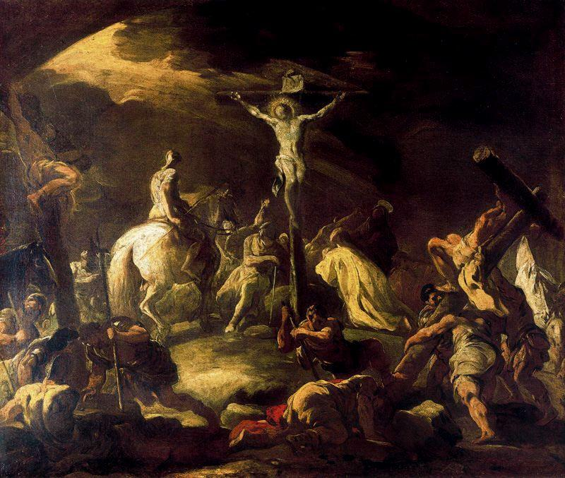 Crucifixion by Luca Giordano (1634-1705, Italy)