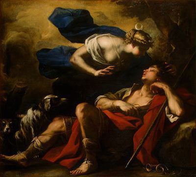 Diana and Endymion by Luca Giordano (1634-1705, Italy)