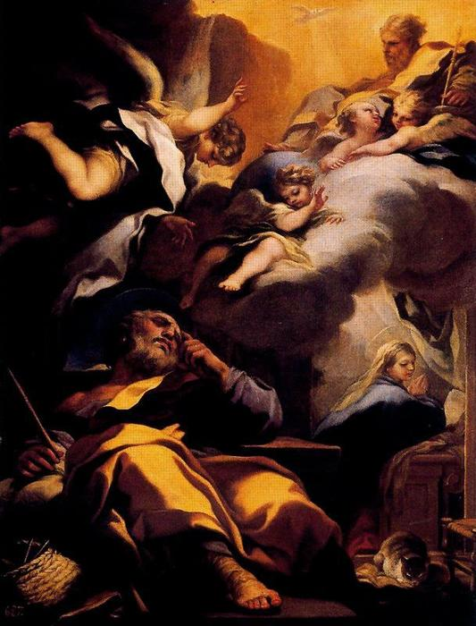 Dream of San Jose by Luca Giordano (1634-1705, Italy)
