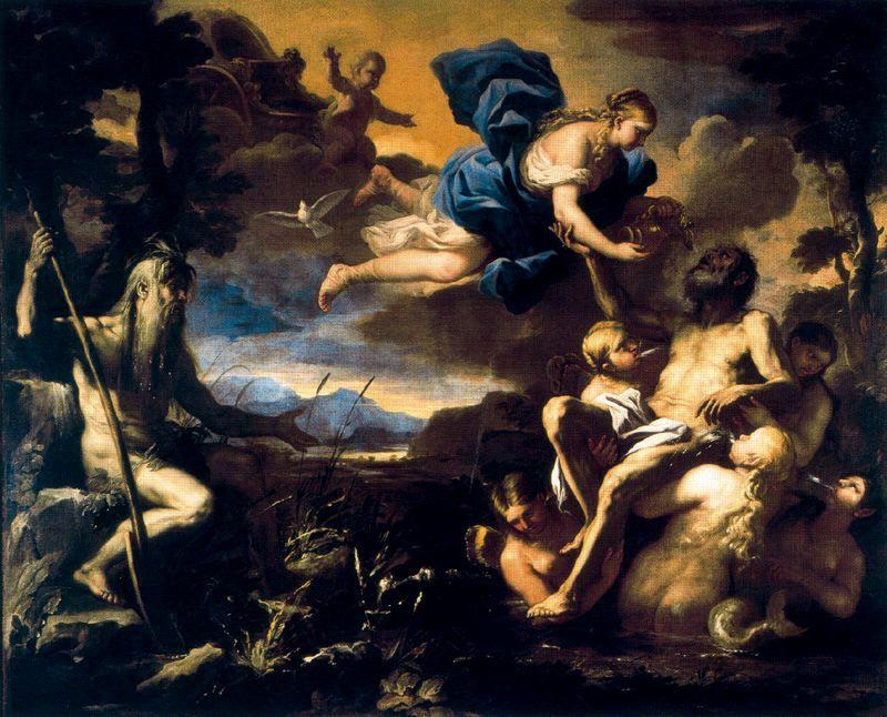 Enea Immortalized 1 by Luca Giordano (1634-1705, Italy)