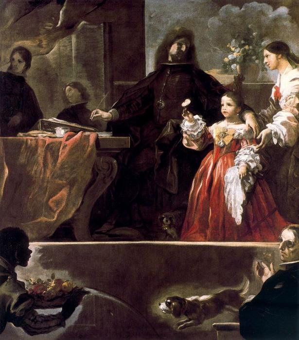 Homage to Velázquez from theCount of Santisteban by Luca Giordano (1634-1705, Italy)