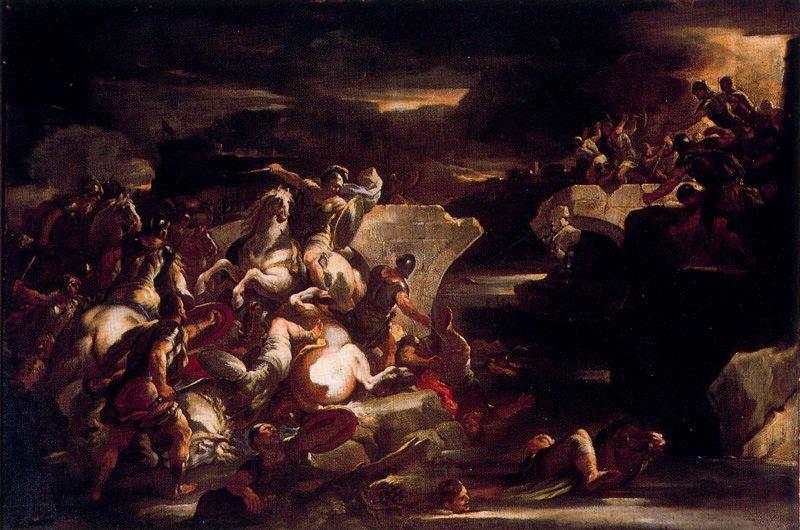 Horatius Codes by Luca Giordano (1634-1705, Italy)