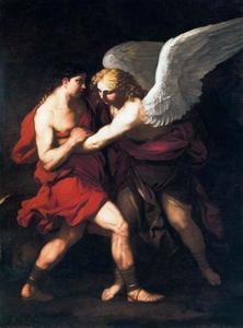Luca Giordano - Jacob wrestling with the angel