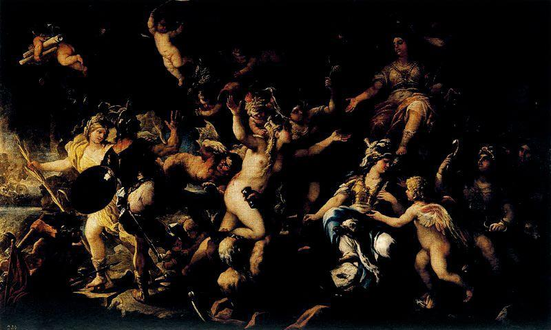 Messina returned to Spain by Luca Giordano (1634-1705, Italy)