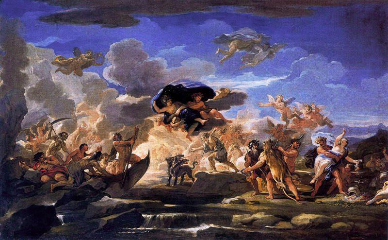 Mythological Scene with the Rape of Proserpine by Luca Giordano (1634-1705, Italy)