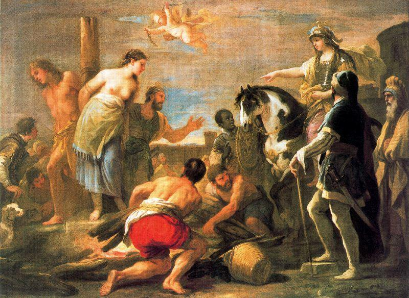 Olindo and Sofronia 1 by Luca Giordano (1634-1705, Italy)
