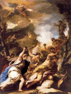 Luca Giordano - Orpheus and the Bacchae