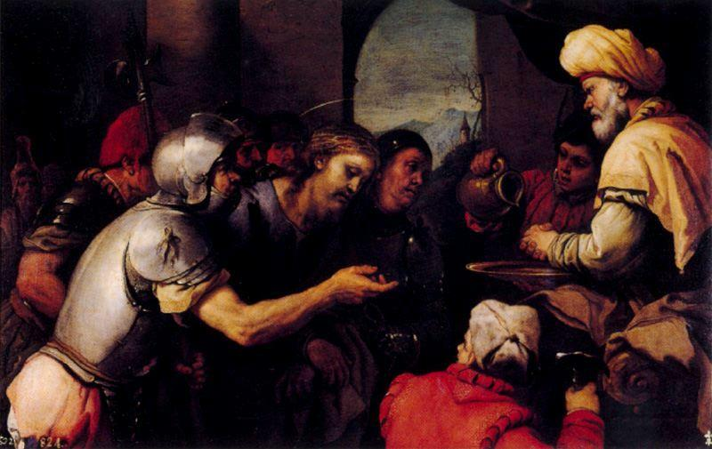 Pilate washing his hands by Luca Giordano (1634-1705, Italy)