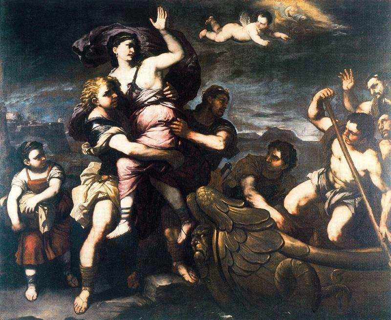 Rape of Elena by Luca Giordano (1634-1705, Italy)